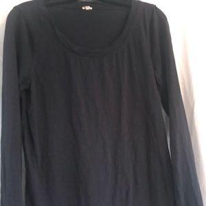 J Crew black long sleeve shirt